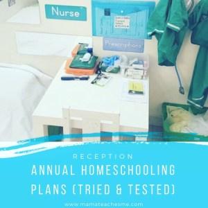 reception annual homeschool plans unit studies mama teaches me