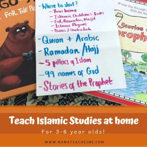 teach islamic studies at home, mamateachesme