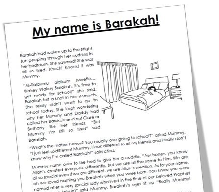 Mama Teaches Me Stories – My Name is Barakah!