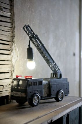 hijskraan DIY lamp