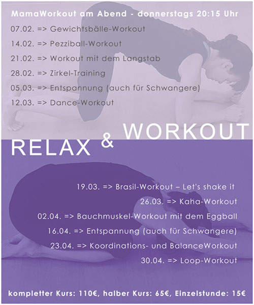 Workout&Relax Winter 2020
