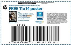 Foto Poster 11×14 GRATIS en Walmart