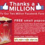 Gratis: Popcorn pequeño en los cines AMC