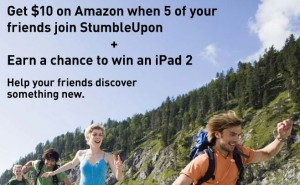 gratis amazon $10 stumbleupon