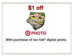 10 Fotos impresas gratis en Target