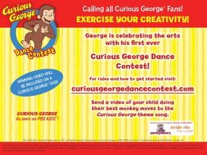 Curious George invita a los niños a bailar (concurso)