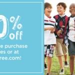 Cupón 20% off del total de tu compra en Gymboree