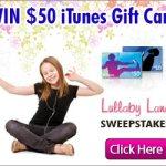 Gana una tarjeta de $50 de iTunes en el sorteo de LullabyLane