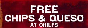 GRATIS Chips y Queso en Chili's (con cupón)