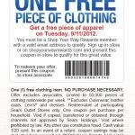 Prenda de ropa GRATIS en Sears {hoy Martes}