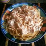 Spaghetti con Salsa Alfredo Casera y Pollo {Receta}