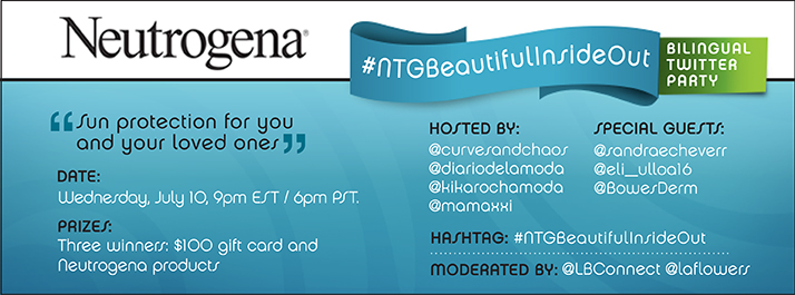 twitter party invitation, neutrogena