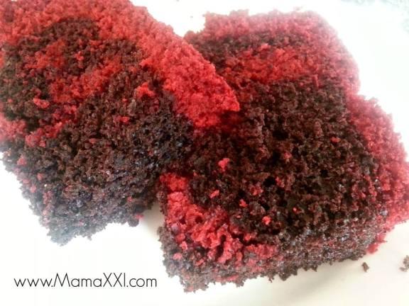 red velvet, chocolate