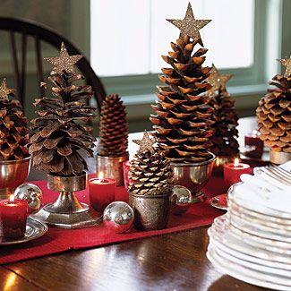 decorar la mesa con piñas
