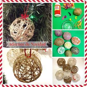 Como hacer adornos con lana para el árbol de Navidad