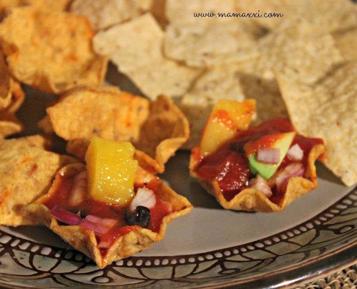 salsa de mango y habichuelas snacks