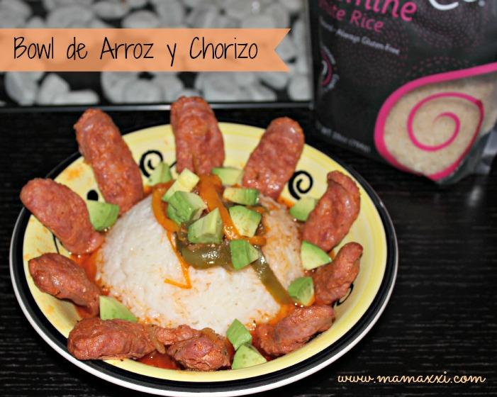 Bowl de Arroz y Chorizo #receta #createastir
