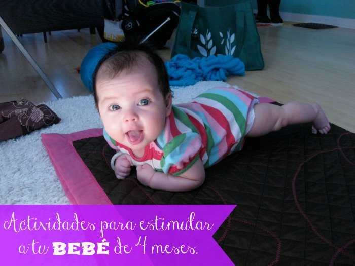 Actividades para estimular a tu bebé de 4 meses