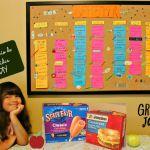 Como hacer un calendario del menú mensual fácil! #FuelForSchool
