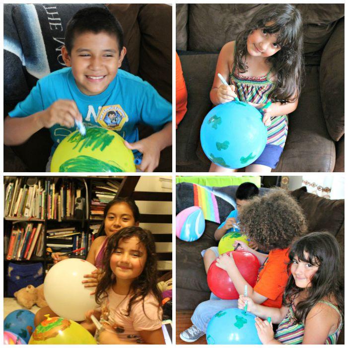 fiesta espacial en casa con los niños