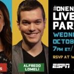Acompáñanos a la Fiesta en Twitter #OneNacion #Latinoes con ESPN!