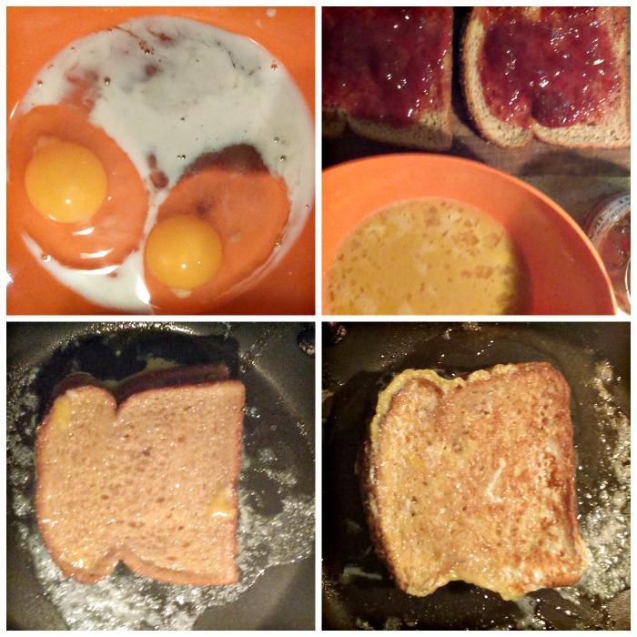paso a paso tostada francesa con mermelada