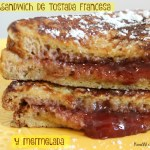 Sándwich de Tostada Francesa y Mermelada