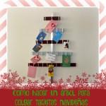 Árbol decorativo navideño para colgar las tarjetas #DIY #Hazlotumisma