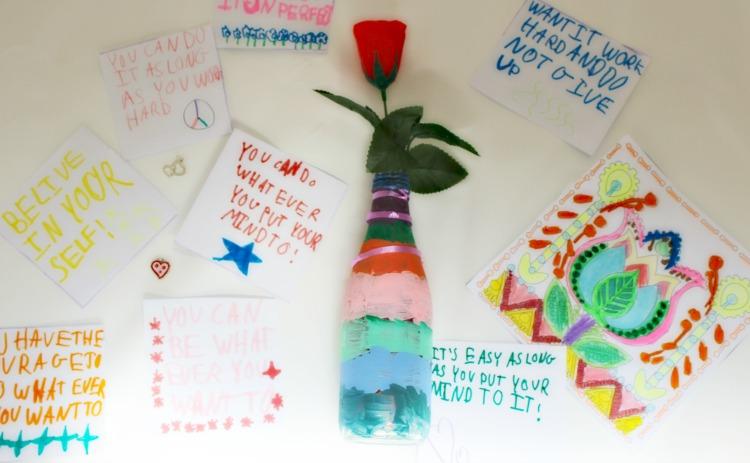 mensajes positivos, niños, actividad plástica, manualidades