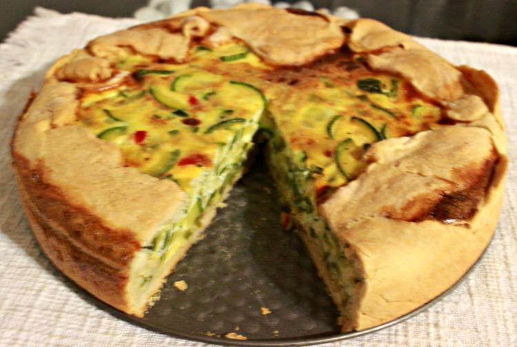 zucchini, ricota, tarta, receta, casera