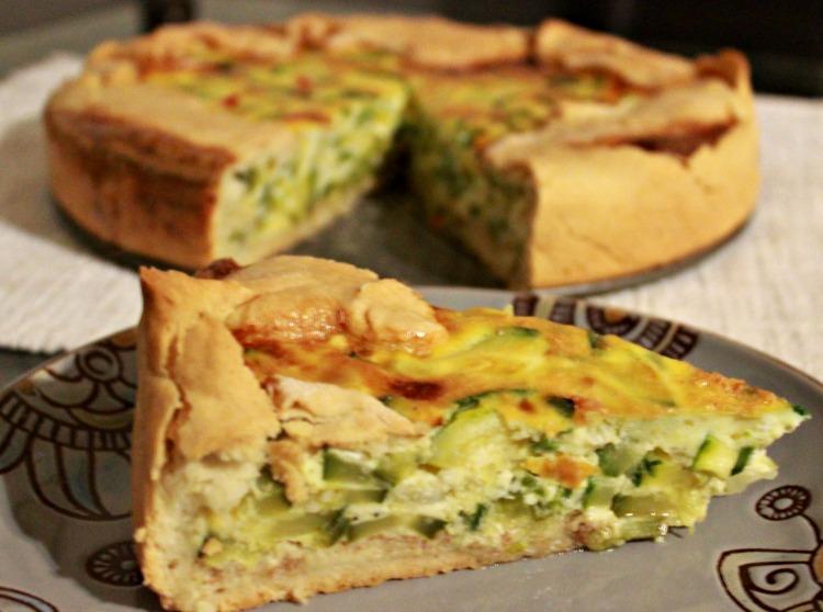 tarta, ricota, zucchini, receta, casera