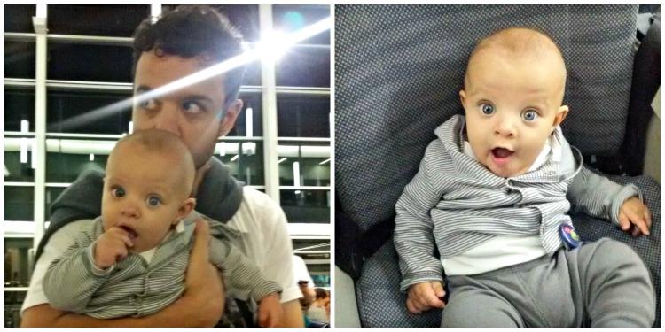 vacaciones, viajar, bebé, avión, familia, hijos, padres