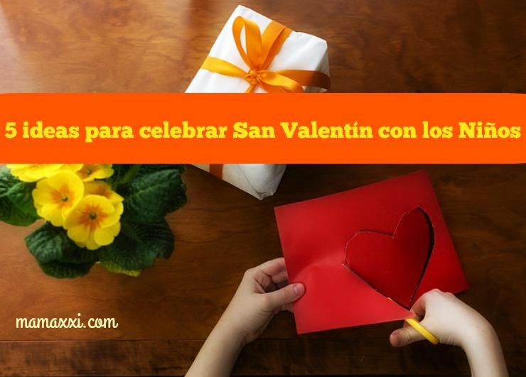 celebrar, san valentin, niños, hijos