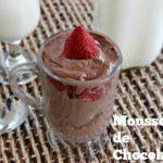 Mousse de Chocolate con Frutillas