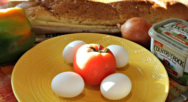 receta, comida, desayuno, huevos, pan