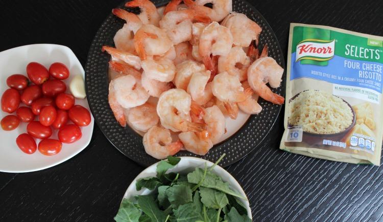 risotto, receta, arroz, ajo, camarones