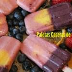 Paletas heladas y cremosas de frutas