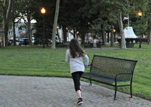 primavera, correr, alergia, niños, parque, naturaleza
