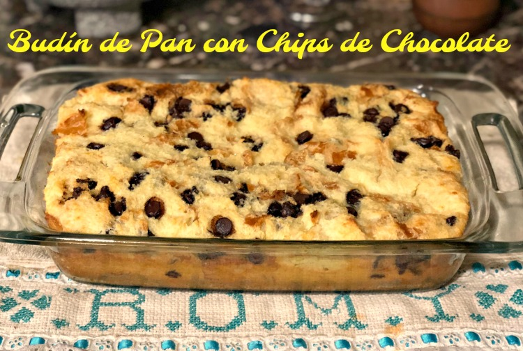 budin, pan, chips, chocolate, receta