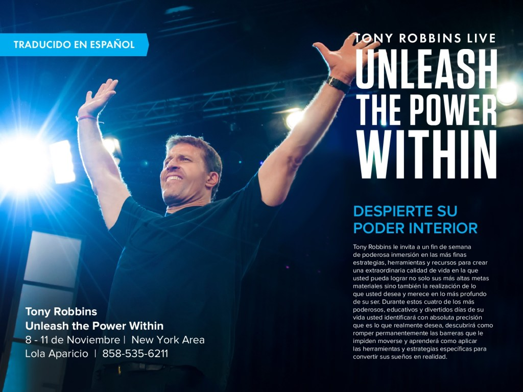 tony robbins, unleash the power within, conference, motivational