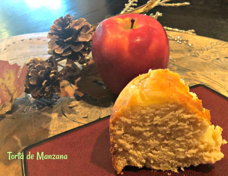 torta manzana, receta, miel, yogur, un huevo