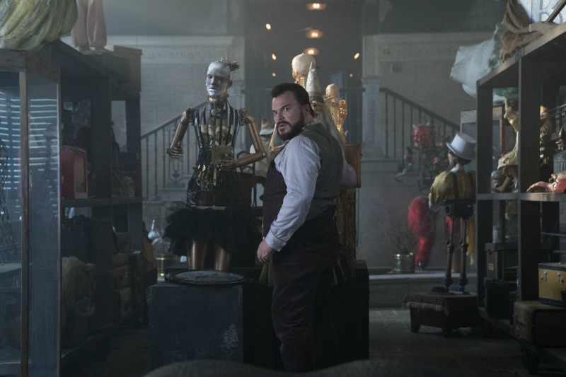 house with a clock in its walls, jack black, universal, movie, pelicula