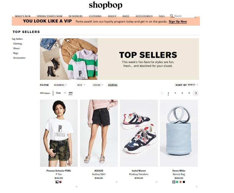 shopbop sale, ropa, ahorro, cupon, descuento