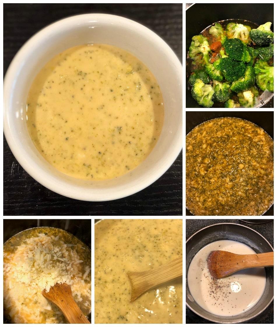 receta, sopa, brocoli, queso, cheddar, crema, grasa, keto diet