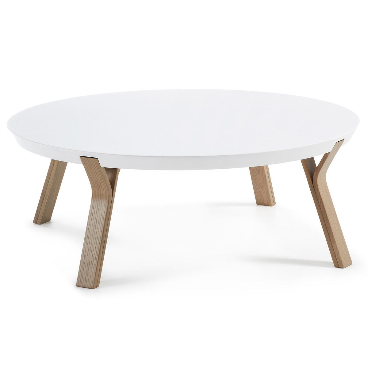 table basse ronde en chene massy