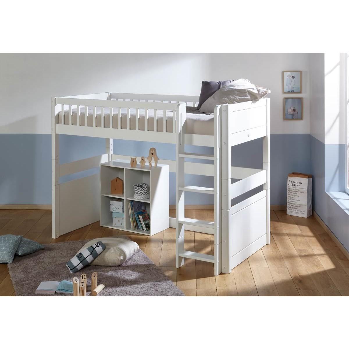 lit mezzanine modulable avec matelas julia