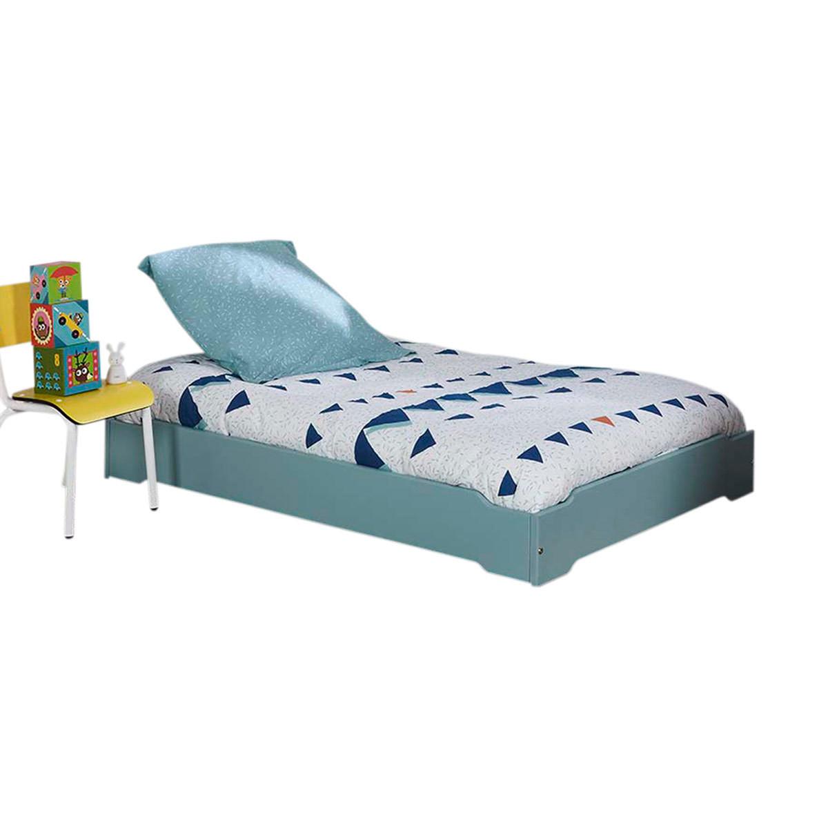 lit empilable avec sommier et matelas helio