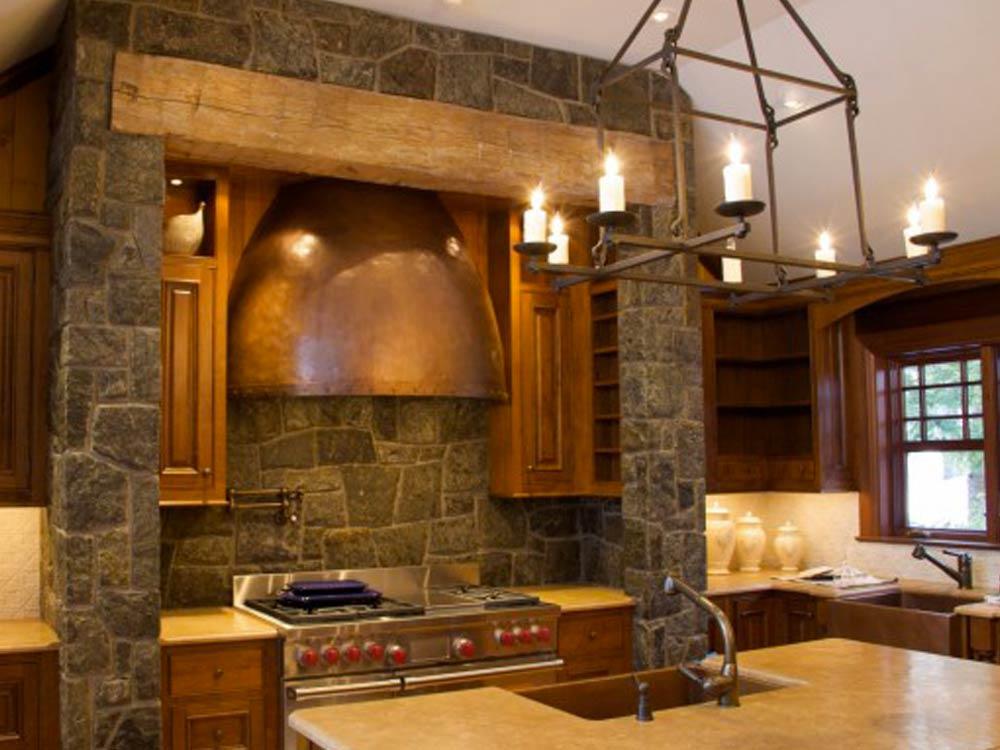 La cucina in muratura stile classico e moderno insieme