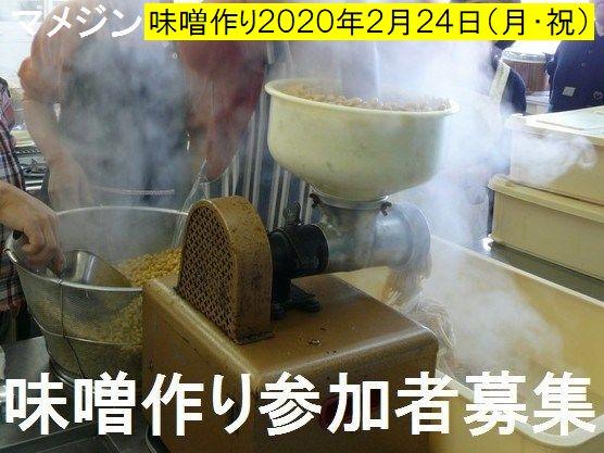 マメジンの味噌作り参加者募集!