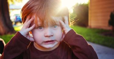 Semne si cauze ale stresului la copiii mici